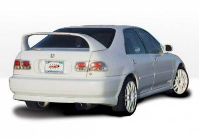 Wings West - Honda Civic 4DR Wings West Racing Series Side Skirts - Left & Right - 890139L&R