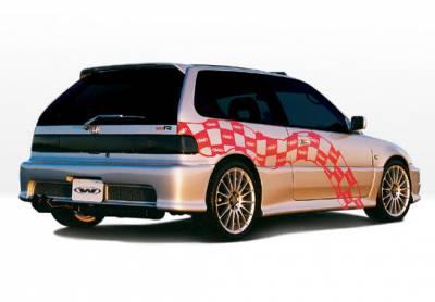 VIS Racing - Honda Civic HB VIS Racing Racing Series Right Side Skirt - 890178R