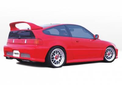 VIS Racing - Honda CRX VIS Racing Racing Series Left Side Skirt - Polyurethane - 890328L