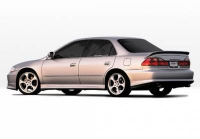 Wings West - Honda Accord 4DR Wings West W-Type Side Skirts - Left & Right - 890334L&R