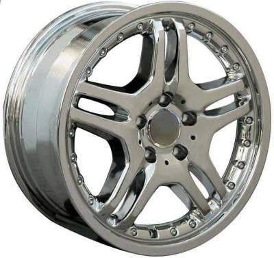 Custom - 17 Inch Quattro Chrome Style - Audi 4 Wheel Package