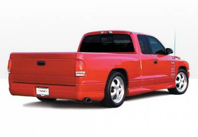 Wings West - Dodge Dakota Wings West W-Type Side Skirts - Left & Right Rear - 890416L&R
