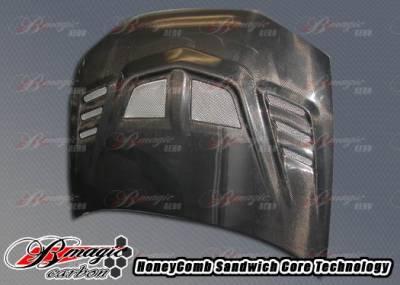 AIT Racing - Mitsubishi Mirage 2DR BMagic R1 Series Carbon Fiber Hood - MMG97BMR1SCFH2