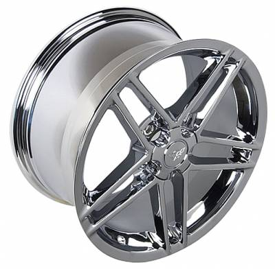 Custom - Z06 05 Style Wheel Chrome - GM Staggered 4 Wheel Package