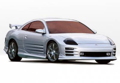 Wings West - Mitsubishi Eclipse Wings West W-Type Side Skirts - Left & Right - 890451L&R