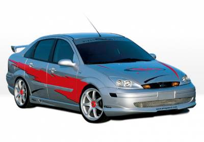 VIS Racing - Ford Focus 4DR VIS Racing W-Type Right Side Skirt - 890483R