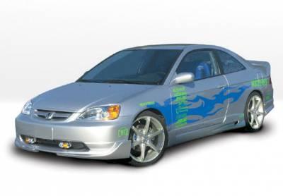 VIS Racing - Honda Civic 2DR VIS Racing G5 Series Left Side Skirt - 890517L
