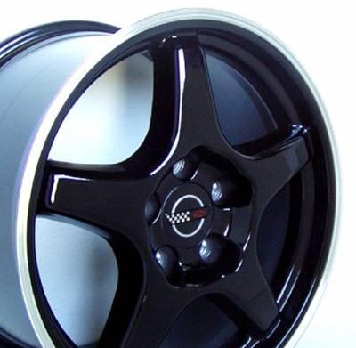 Custom - ZR Style Wheel Black - GM 17 Inch 4 Wheel Package