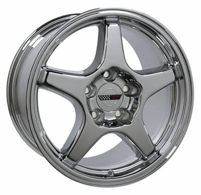 Custom - ZR Style Wheel Chrome - GM 17 Inch 4 Wheel Package