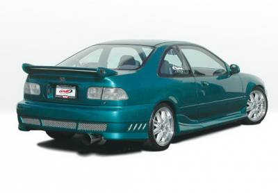 Wings West - Honda Civic 2DR Wings West Tuner II Side Skirts - Left & Right - 890581L&R