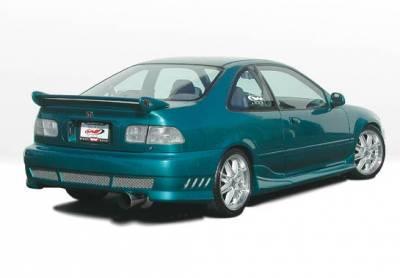 VIS Racing - Honda Civic 2DR VIS Racing Tuner Type 2 Right Side Skirt - 890581R