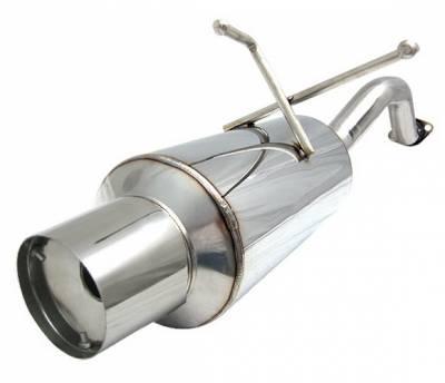 4 Car Option - Honda Civic 2DR & 4DR 4 Car Option Bolt-On Muffler with Stainless Steel Tip - MUB-HC964