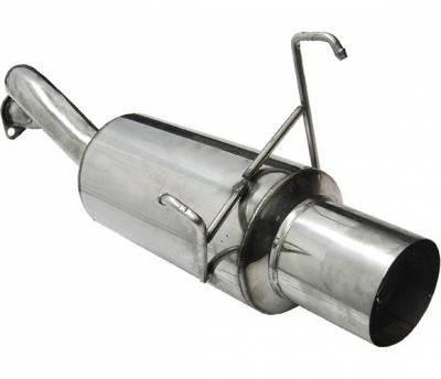4 Car Option - Honda Del Sol 4 Car Option Bolt-On Muffler with Stainless Steel Tip - MUB-HD93