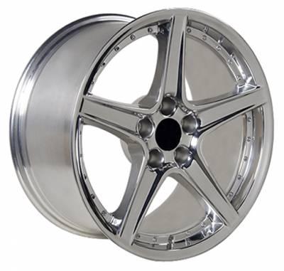 Custom - Saleen R Style Wheel Polished - Mustang 18 Inch 4 Wheel Package