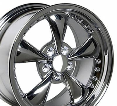 Custom - Bullet Style Wheel Chrome - Mustang 17 Inch 4 Wheel Package