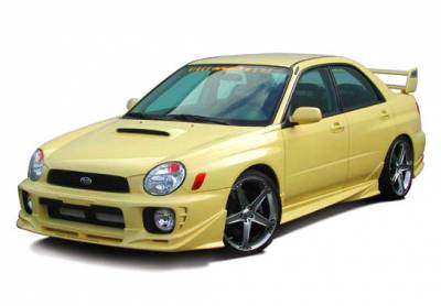 VIS Racing - Subaru WRX VIS Racing W-Type Side Skirts with Door Caps - 4PC - 890699LR