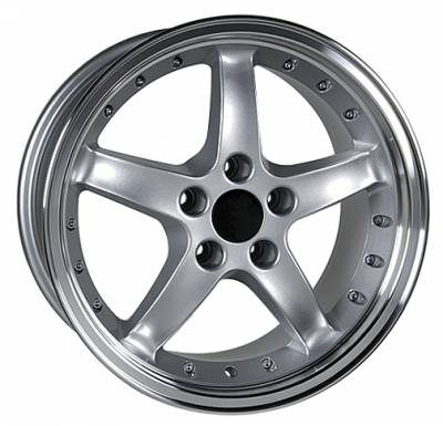 Custom - Cobra Style Wheel Silver - Mustang 17 Inch 4 Wheel Package