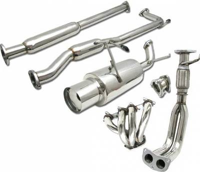 4 Car Option - Honda Civic 4DR 4 Car Option Cat-Back Exhaust System with Header - MUX2-HA984