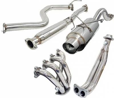 4 Car Option - Honda Civic HB 4 Car Option Cat-Back Exhaust System with Header - MUX2-HC923