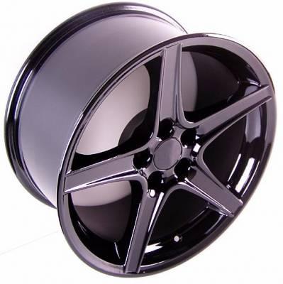 Custom - Saleen Style Wheel Black - Mustang 18 Inch 4 Wheel Package