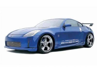 VIS Racing - Nissan 350Z VIS Racing Z-Spec Right Side Skirt - 890779R