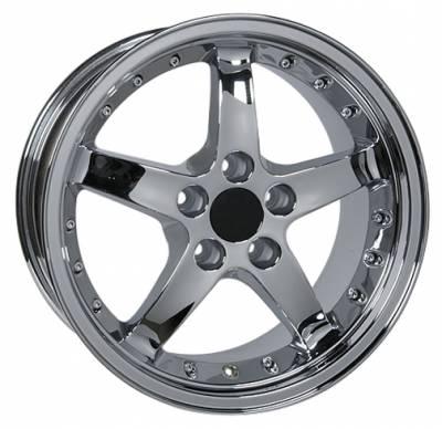 Custom - Cobra R Style Wheel Chrome - Mustang 17 Inch 4 Wheel Package