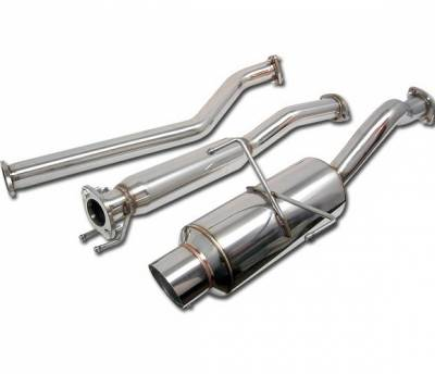 4 Car Option - Acura RSX 4 Car Option Cat-Back Exhaust System with Stainless Steel Tip - MUX-AR02NS