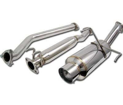 4 Car Option - Acura RSX 4 Car Option Cat-Back Exhaust System with Stainless Steel Tip - MUX-AR02S