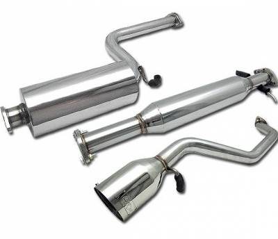 4 Car Option - Ford Focus 4 Car Option Cat-Back Exhaust System with Stainless Steel Tip - MUX-FF00