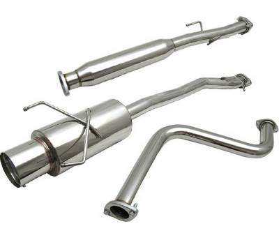 4 Car Option - Honda Accord 4 Car Option Cat-Back Exhaust System with Stainless Steel Tip - MUX-HA90