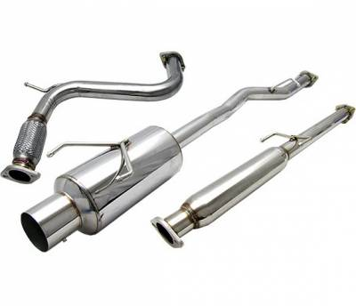 4 Car Option - Honda Accord 4 Car Option Cat-Back Exhaust System with Stainless Steel Tip - MUX-HA94