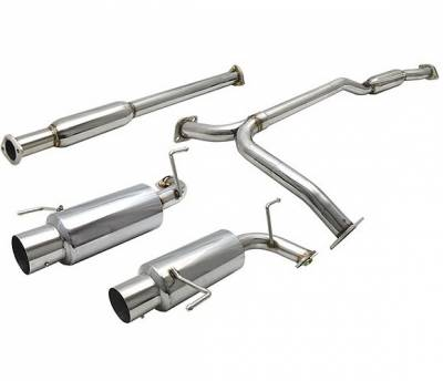 4 Car Option - Honda Accord 4 Car Option Cat-Back Exhaust System with Stainless Steel Tip - MUX-HA98V6