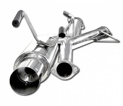 4 Car Option - Honda Civic 2DR & 4DR 4 Car Option Cat-Back Exhaust System with Stainless Steel Tip - MUX-HC01