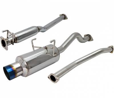 4 Car Option - Honda Civic 2DR & 4DR 4 Car Option Cat-Back Exhaust System with Titanium Tip - MUX-HC01-TT