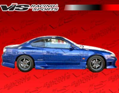 VIS Racing - Nissan 240SX VIS Racing Flex Side Skirts - 89NS2402DFLX-004