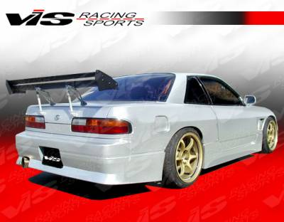 VIS Racing - Nissan 240SX VIS Racing M Speed Side Skirts - 89NS2402DMSP-004