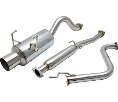 4 Car Option - Honda Del Sol 4 Car Option Cat-Back Exhaust System with Stainless Steel Tip - MUX-HD93