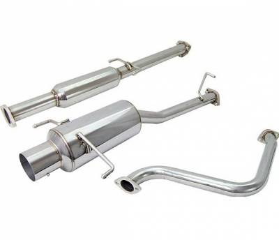 4 Car Option - Honda Prelude 4 Car Option Cat-Back Exhaust System with Stainless Steel Tip - MUX-HP97