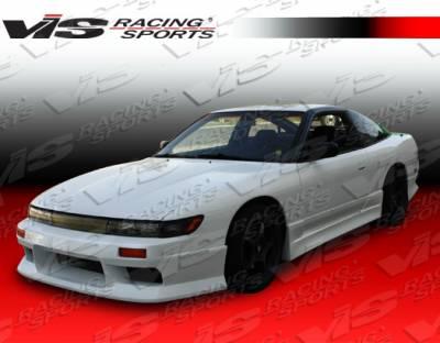 VIS Racing - Nissan 240SX VIS Racing V Speed Side Skirts - 89NS2402DVSP-004