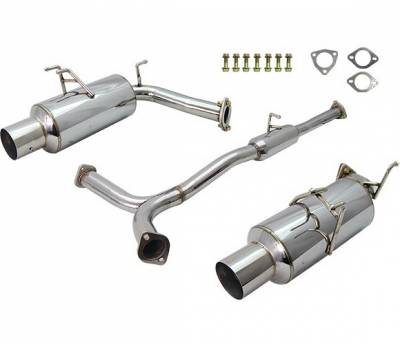4 Car Option - Honda S2000 4 Car Option Dual Cat-Back Exhaust System with Stainless Steel Tip - MUX-HS2K00-2