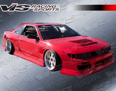 VIS Racing - Nissan S13 VIS Racing B Speed Side Skirts - 89NSS132DBSP-004