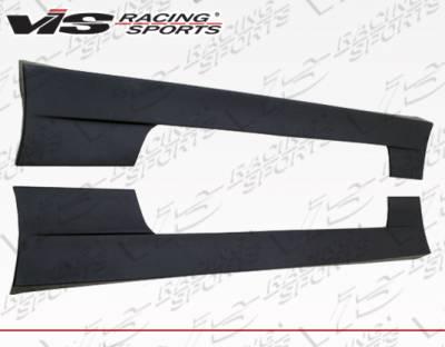 VIS Racing - Nissan S13 VIS Racing Quad Six Side Skirts - 89NSS132DQS-004