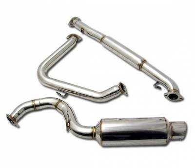 4 Car Option - Mitsubishi Eclipse 4 Car Option Cat-Back Exhaust System with Stainless Steel Tip - MUX-ME95