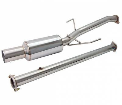 4 Car Option - Mitsubishi Lancer 4 Car Option Cat-Back Exhaust System with Stainless Steel Tip - MUX-ML03