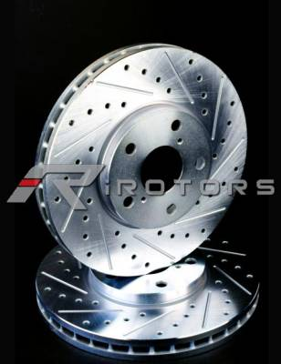 CustomRotors - Front Drilled Rotors Sport - Pair