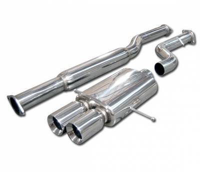 4 Car Option - Subaru WRX 4 Car Option Cat-Back Exhaust System with Stainless Steel Tip - MUX-SI02NT