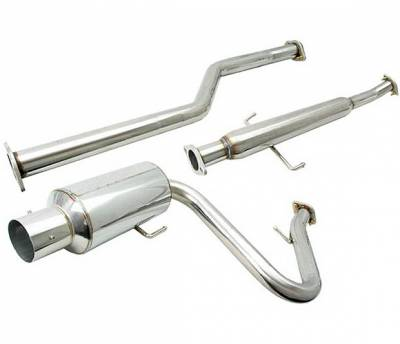 4 Car Option - Scion tC 4 Car Option Cat-Back Exhaust System with Stainless Steel Tip - MUX-STC04