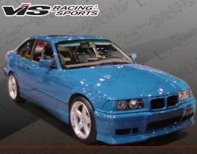 VIS Racing - BMW 3 Series 2DR VIS Racing R-Tech Side Skirts - 92BME362DRTH-004