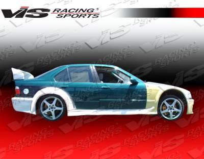 VIS Racing. - BMW 3 Series VIS Racing GT Widebody Side Skirts - 92BME364DGTWB-004