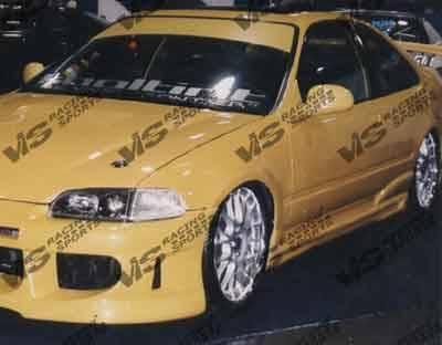 VIS Racing - Honda Civic 2DR VIS Racing Fuzion Side Skirts - 92HDCVC2DFUZ-004